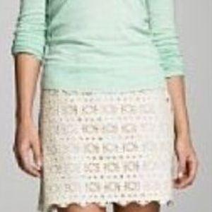 J crew eyelet skirt